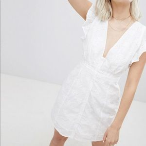 Asos Emory park eyelet ruffle dress with buttons